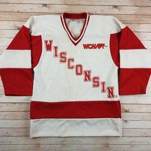 VTG 80s/90s Wisconsin Badgers NCAA Hockey Jersey